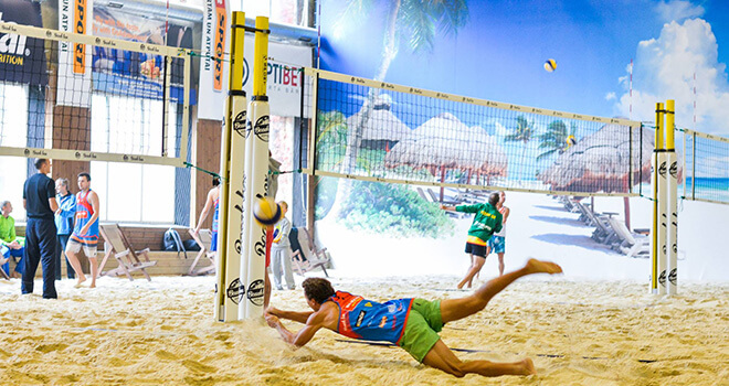 beach volleyball in riga rent price