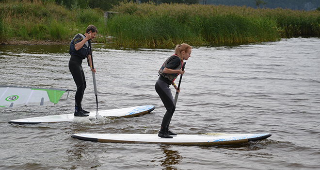 stand up paddle board in riga