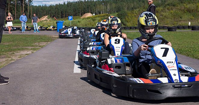 Outdoor Go Kart Racing in Riga | Red Fox Tours