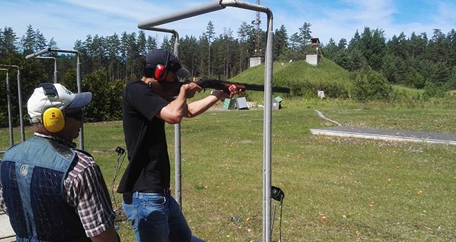 clay pigeon shooting in riga