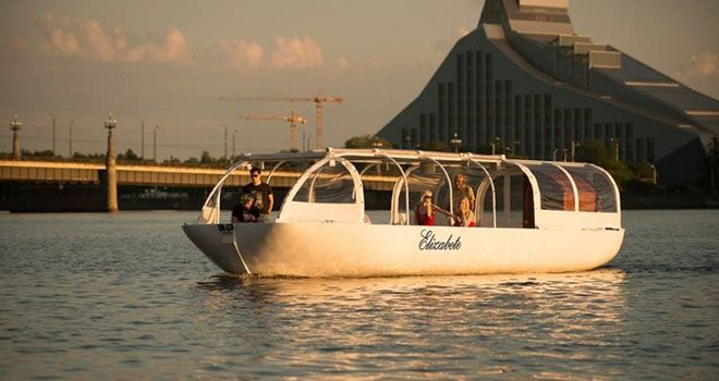 riga river cruise boat rent